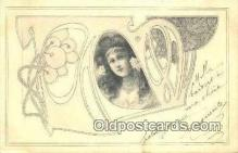 xrt150008 - Art Nouveau Postcard Post Card Old Vintage Antique