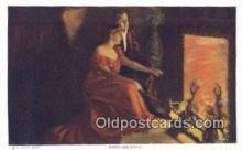 xrt171010 - Kindling Love Artist Dewey, Alfred James Postcards Post Cards Old Vintage Antique
