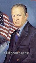 xrt192005 - Gerald Ford - Presidient Artist Morris Katz Postcards Post Cards Old Vintage Antique