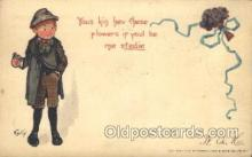 xrt209030 - Artist Signed E. Curtis Postcard Postcards