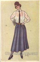xrt225004 - Artist Signed Dinas Postcard Postcards