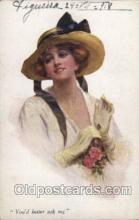 xrt246004 - Artist Signed A. Vivian Mansell Postcard Postcards