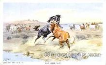 xrt260014 - Artist Charles Russell, Postcard Post Card