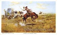 xrt260039 - Artist Charles Russell, Postcard Post Card