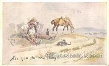 xrt260060 - Artist Charles Russell, Postcard Post Card