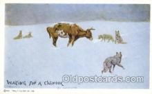 xrt260061 - Artist Charles Russell, Postcard Post Card