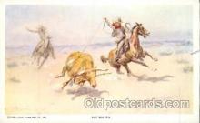 xrt260063 - Artist Charles Russell, Postcard Post Card