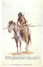xrt260085 - Artist Charles Russell, Postcard Post Card