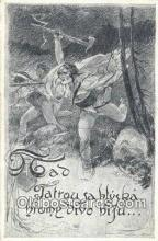 xrt292024 - Artist Oldrich Cihelka Postcard Post Card Old Vintage Antique Series # 0 1 4 7