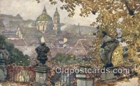 xrt301022 - Artist Engelmuller, F. Postcard, Praha, Prague, Czech Republic, Post Card, Old Vintage Antique