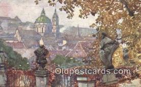 xrt301023 - Artist Engelmuller, F. Postcard, Praha, Prague, Czech Republic, Post Card, Old Vintage Antique