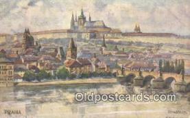 xrt301035 - Artist Engelmuller, F. Postcard, Praha, Prague, Czech Republic, Post Card, Old Vintage Antique