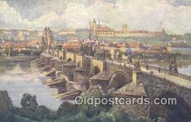 xrt301037 - Artist Engelmuller, F. Postcard, Praha, Prague, Czech Republic, Post Card, Old Vintage Antique