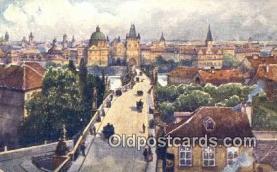 xrt301043 - Artist Engelmuller, F. Postcard, Praha, Prague, Czech Republic, Post Card, Old Vintage Antique