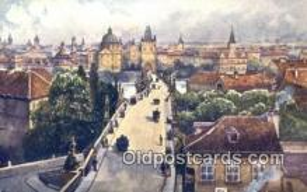xrt301044 - Artist Engelmuller, F. Postcard, Praha, Prague, Czech Republic, Post Card, Old Vintage Antique