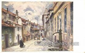 xrt301046 - Artist Engelmuller, F. Postcard, Praha, Prague, Czech Republic, Post Card, Old Vintage Antique