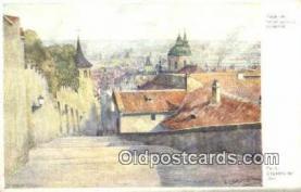 xrt301049 - Artist Engelmuller, F. Postcard, Praha, Prague, Czech Republic, Post Card, Old Vintage Antique