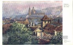 xrt301050 - Artist Engelmuller, F. Postcard, Praha, Prague, Czech Republic, Post Card, Old Vintage Antique