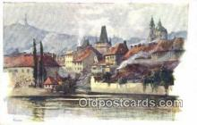 xrt301062 - Artist Engelmuller, F. Postcard, Praha, Prague, Czech Republic, Post Card, Old Vintage Antique
