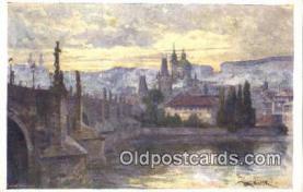 xrt301065 - Artist Engelmuller, F. Postcard, Praha, Prague, Czech Republic, Post Card, Old Vintage Antique