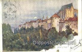 xrt301067 - Artist Engelmuller, F. Postcard, Praha, Prague, Czech Republic, Post Card, Old Vintage Antique