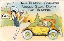 xrt333181 - Artist EL White Traffic Cop Ess Postcard Post Card