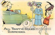 xrt333182 - Artist EL White Traffic Rules Suspended Postcard Post Card