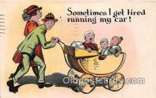 xrt333189 - Artist EL White Running My Car Postcard Post Card