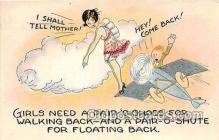 xrt333192 - Artist EL White Floating Back Postcard Post Card