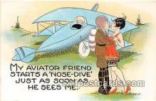 xrt333193 - Artist EL White Aviator Friend Postcard Post Card