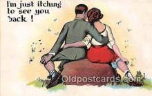 xrt333200 - Artist EL White Itching to See You Postcard Post Card