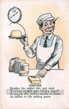 xrt333214 - Artist EL White Grocer Postcard Post Card