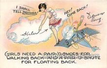 xrt333228 - Artist EL White Floating Back Postcard Post Card