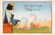 xrt333235 - Artist EL White Sittin Pretty Postcard Post Card