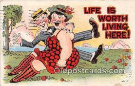 xrt333250 - Artist EL White Worth Living Postcard Post Card