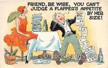 xrt333254 - Artist EL White Can't Judge Flapper's Appetite Postcard Post Card