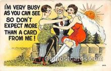 xrt333257 - Artist EL White Very Busy Postcard Post Card