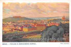 xrt348003 - Artist Prof Jarosl Kousek Brno Phled S Cerveneho Kopce Postcard Post Card