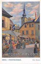 xrt348004 - Artist Prof Jarosl Kousek Brno Frantiskanska Postcard Post Card