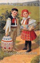 xrt352017 - T Kroje Vesele Velikonoce Postcard Post Card