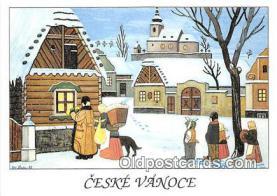 xrt356192 - Artist Josef Lada Ceske Vanoce Postcard Post Card