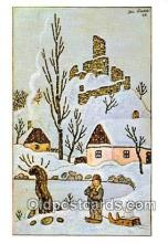 xrt356210 - Artist Josef Lada Greetings Postcard Post Card