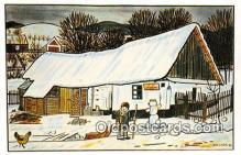 xrt356224 - Artist Josef Lada Greetings Postcard Post Card