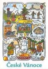 xrt356229 - Artist Josef Lada Ceske Vanoce, Zima 1947 Postcard Post Card