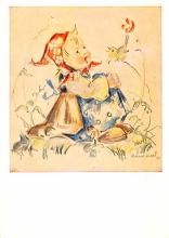 xrt372002 - Artist Signed Post Card