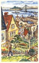 xrt500600 - Oakland Bay Bride, San Francisco, Cal. USA Misc Artist Signed Postcard Post Card Old Vintage Antique