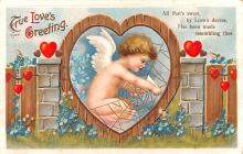 xrt599105 - Valentines Day Post Card Old Vintage Antique Postcard