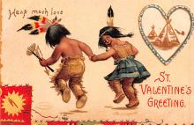 xrt599107 - Valentines Day Post Card Old Vintage Antique Postcard