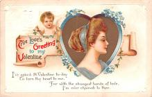 xrt599113 - Valentines Day Post Card Old Vintage Antique Postcard