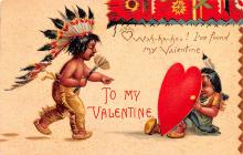 xrt599125 - Valentines Day Post Card Old Vintage Antique Postcard
